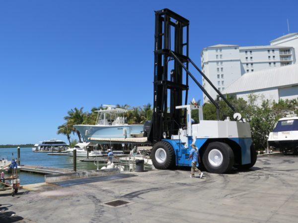 42,000 lbs Diesel Marina Forklift